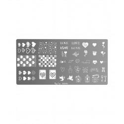 Placa de stamping Love