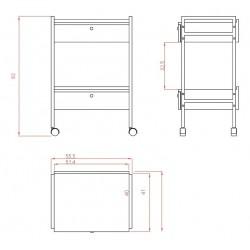 Carrito 2 estanterias Easy+