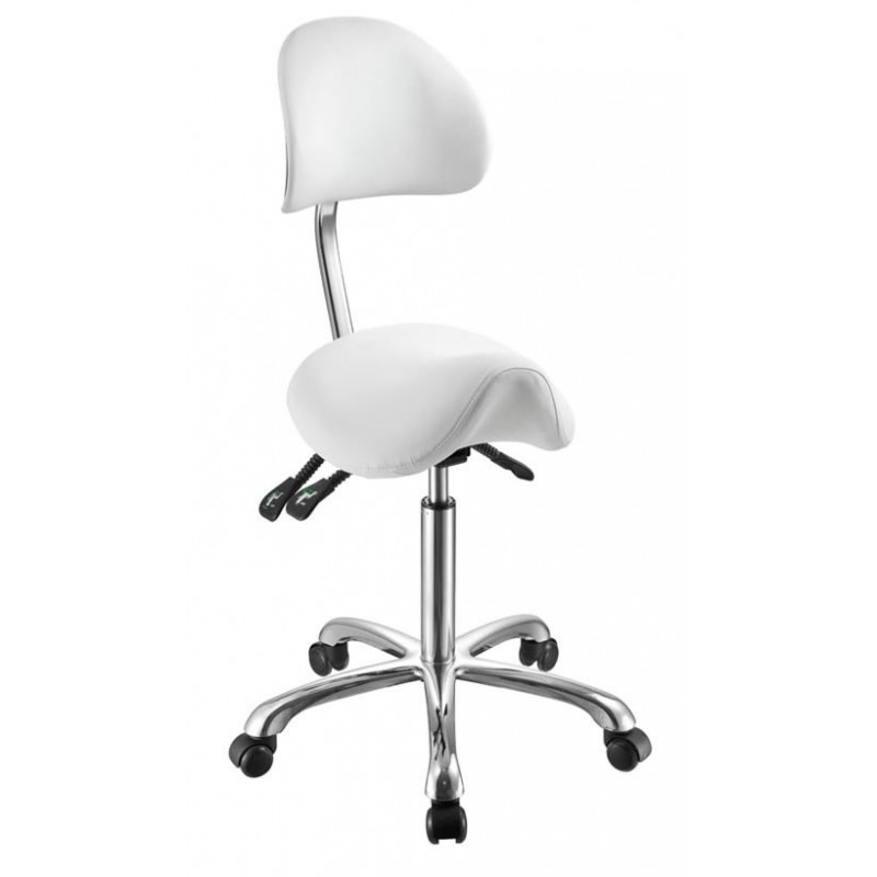 Hydraulic stool with backrest Koren