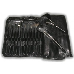 28 brushes leather case