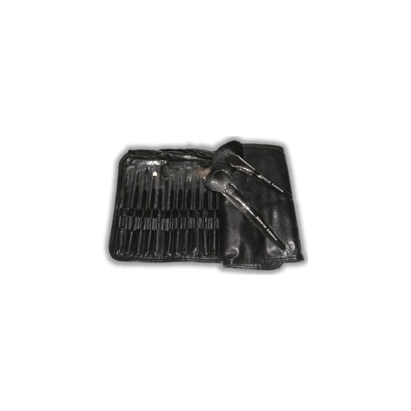 28 brushes leather case