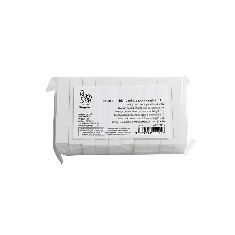 Taco pulidor blanco slim (10u)