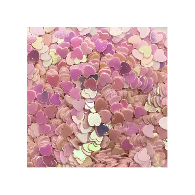 Bolsa de Corazones Rosa Nail Art