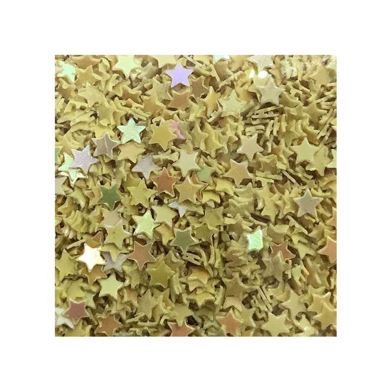 Bolsa de Estrellas Amarillas Nail Art