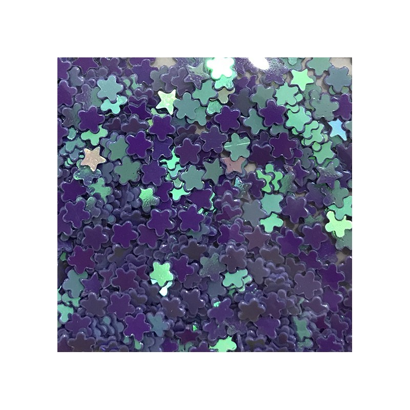 Bolsa de Flores Azules Nail Art
