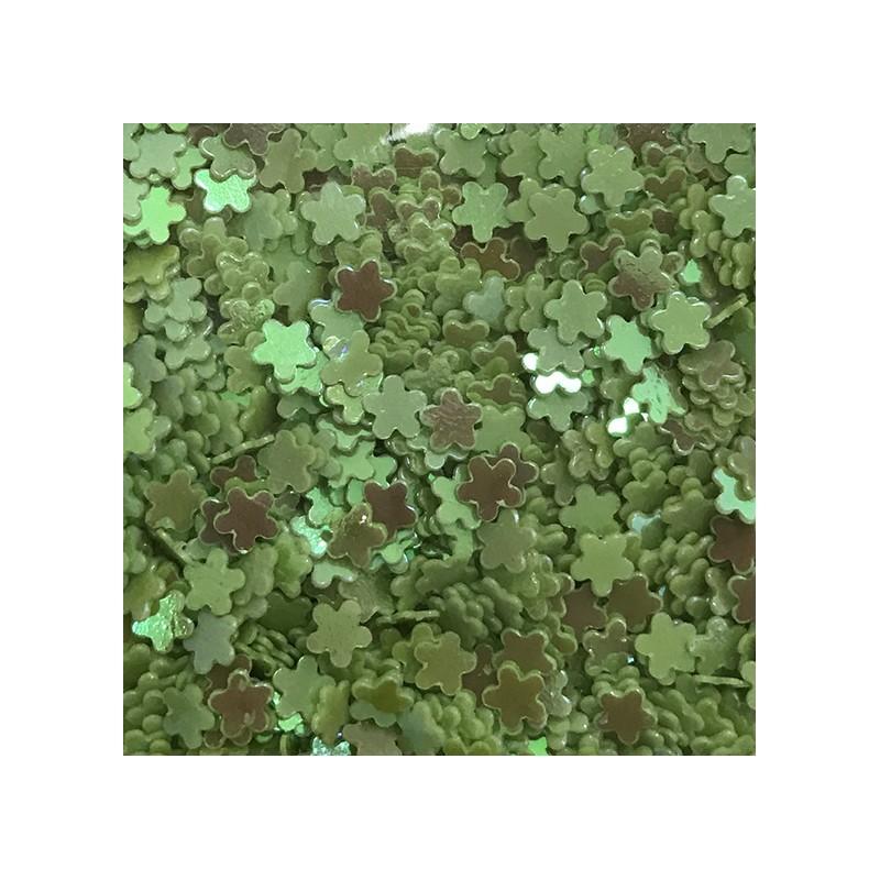 Bolsa de Flores Verdes Nail Art