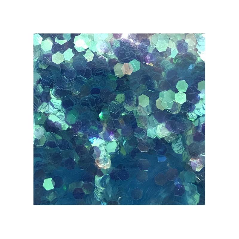Bolsa de Hexágono Azul Claro Nail Art