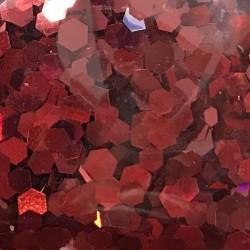Bolsa de Hexágonos Rojo Nail Art