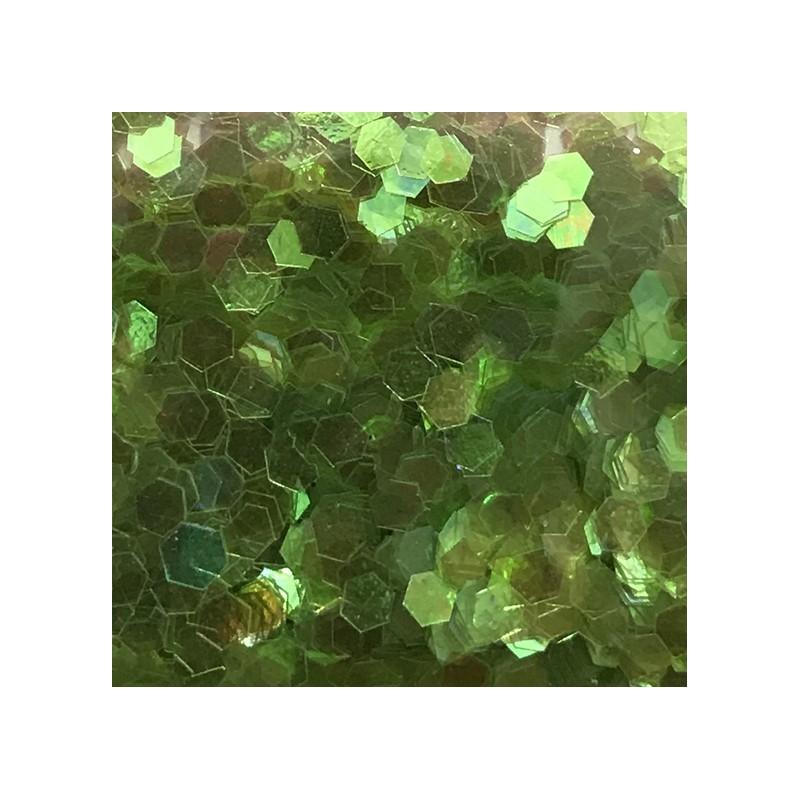 Bolsa de Hexágonos Verde Claro Nail Art