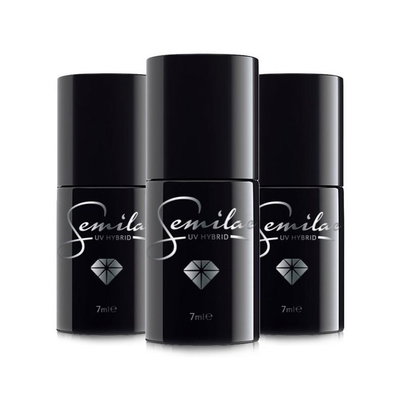 Pack 3 vernis Semilac (Base + color + top coat)