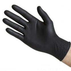 Black nitrile gloves 100 u.