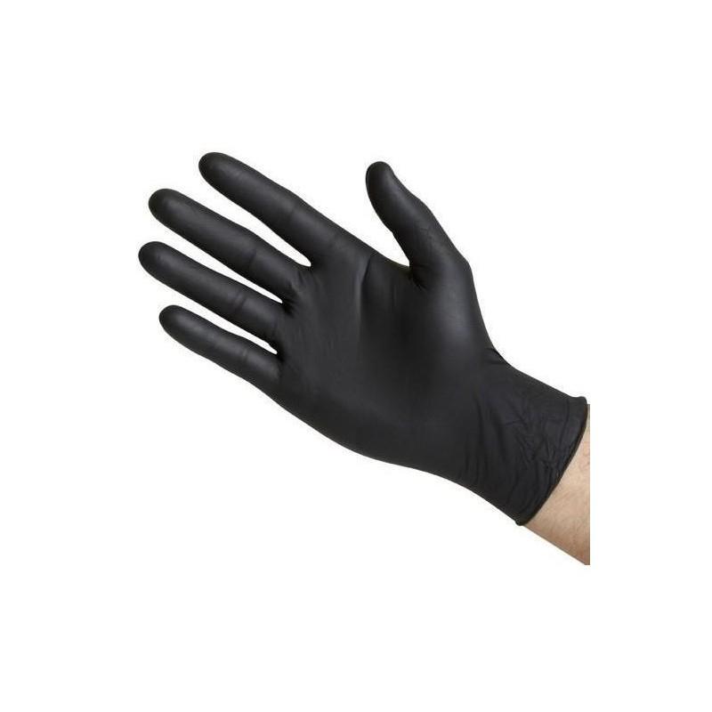 Black nitrile gloves 100 u.