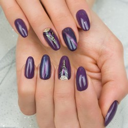 Esmalte gel nº14 (Dark Violet Dreams)