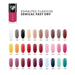 Pack Semilac 30 colores Esmalte normal Fast Dry