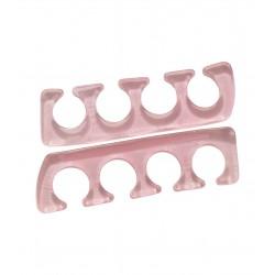 Paire de separateurs d'orteils en silicone