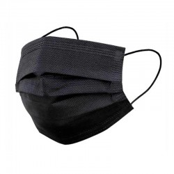 Black disposable face mask 50u