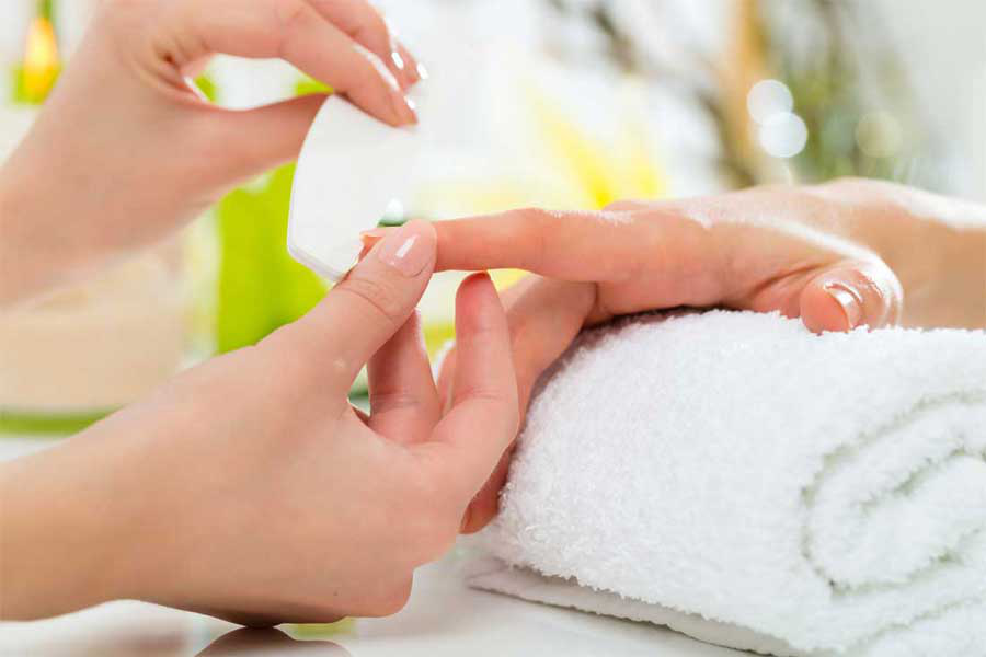 Manicure for the care of hands and nails